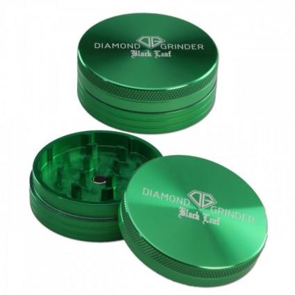 Black Leaf Diamond Al Grinder 2-part Green