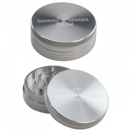 Black Leaf Diamond Al Grinder 2-part Silver