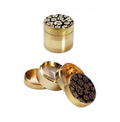 Flowers Zinc Grinder 4-part gold