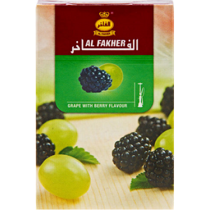 Vesipiibu Tubakas Al Fakher Grape With Berry